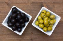 czarne oliwki zielone oliwki