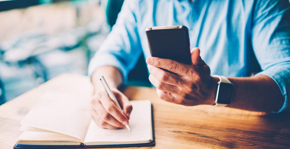 smartfon notatnik