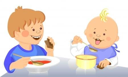 dzieci jedzenie