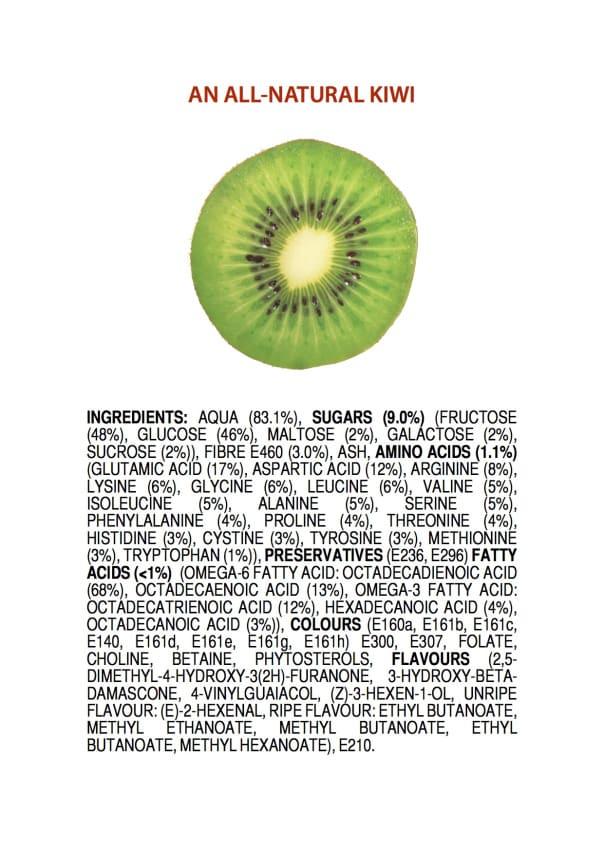 Jak wyglądałaby etykieta składu owoców ?