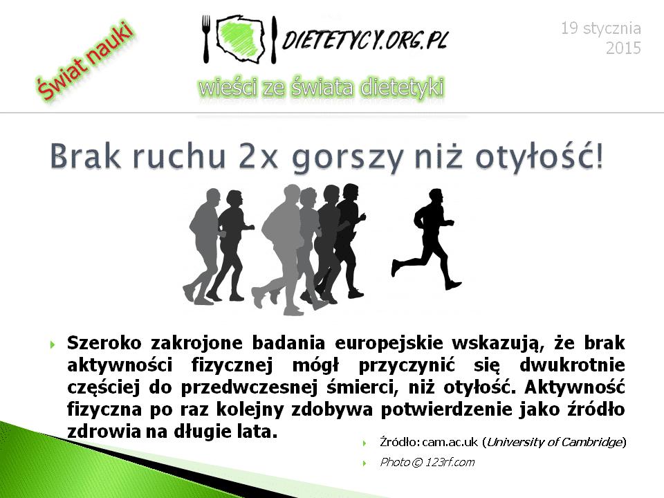 Wieści ze świata dietetyki (19.01.2015)