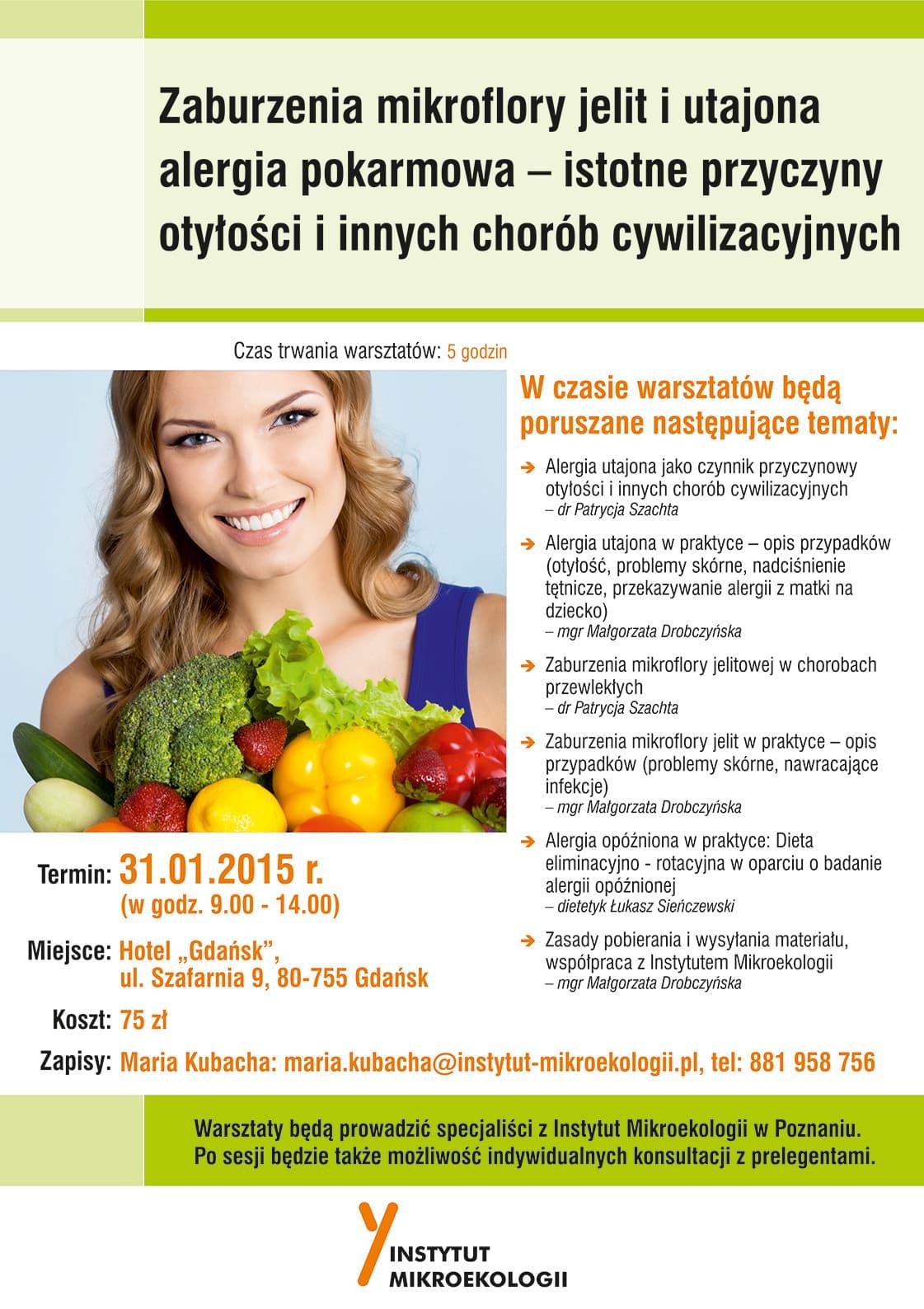Warsztaty – Jelito - źródło zdrowia i choroby (24.01.2015 – Lublin)