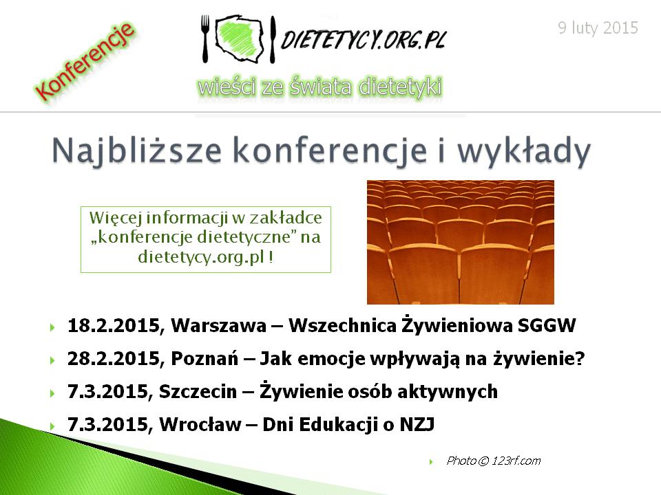 Wieści ze świata dietetyki (9.02.2015)
