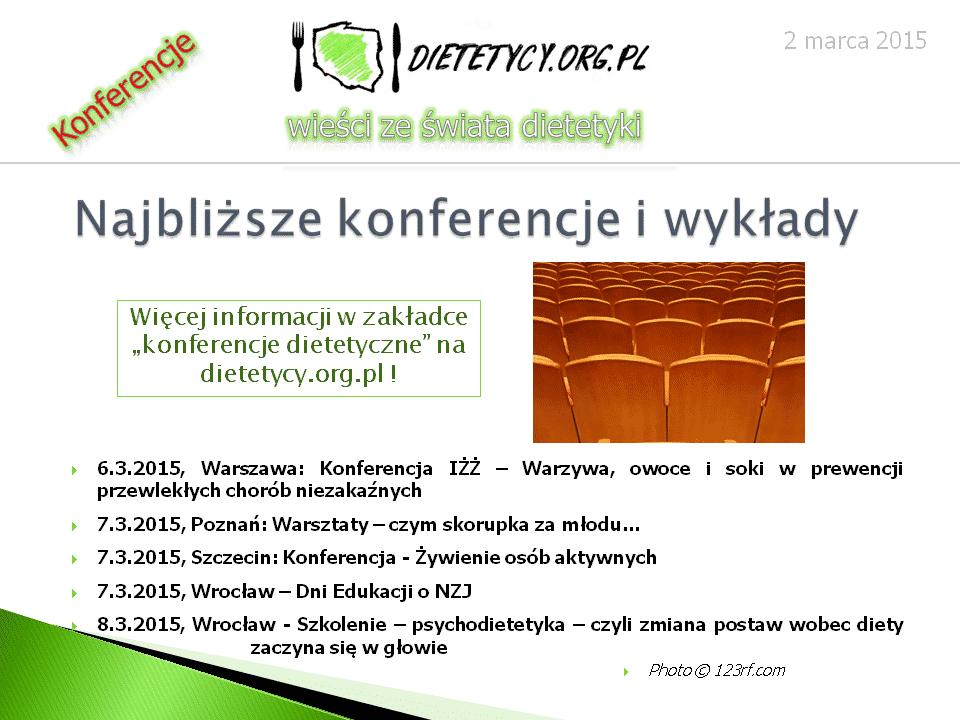 Wieści ze świata dietetyki (02.03.2015)