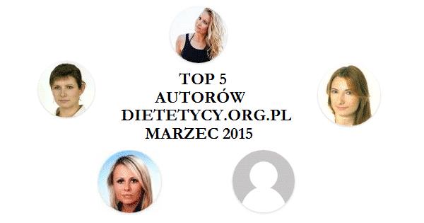 Najpopularniejsi autorzy i artykuły marca 2015