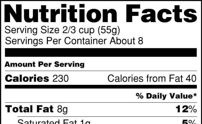 Ilości kalorii na opakowaniach są nieprawidłowe