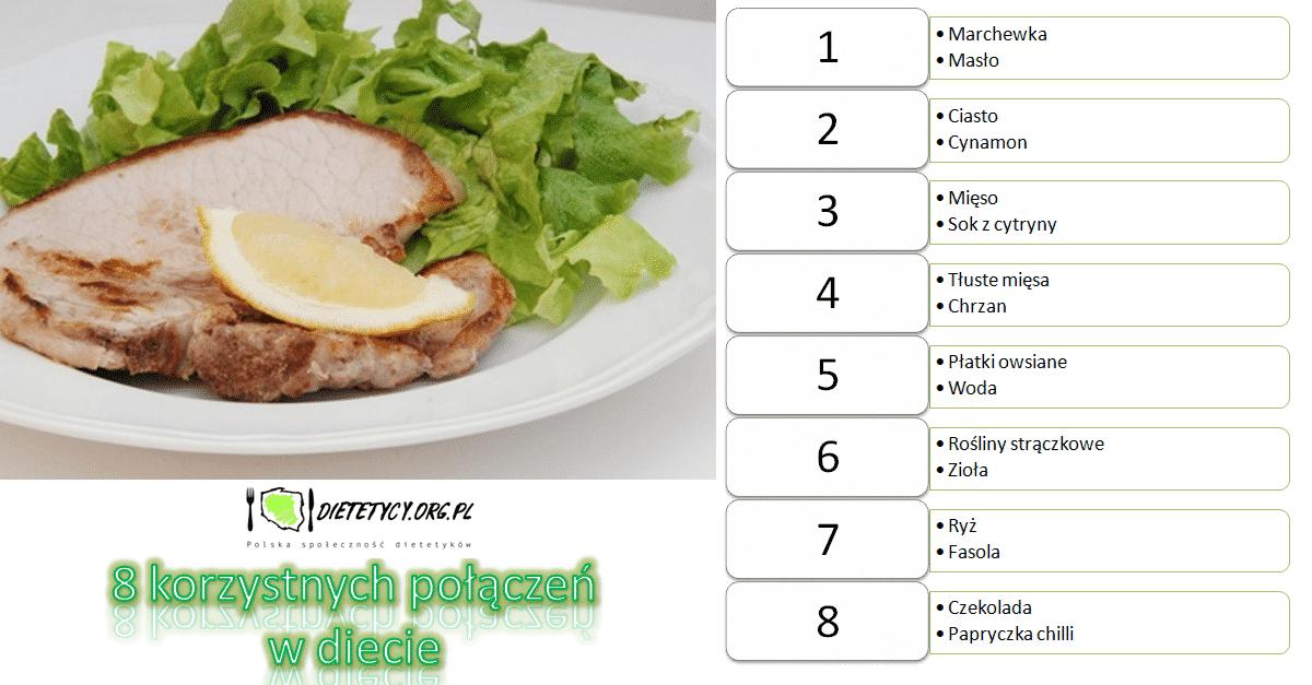 8 korzystnych połączeń w diecie