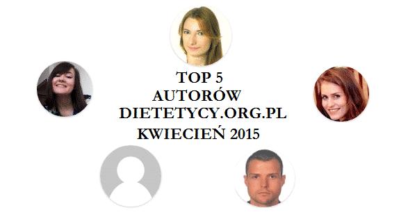 Najpopularniejsi autorzy i artykuły kwietnia 2015