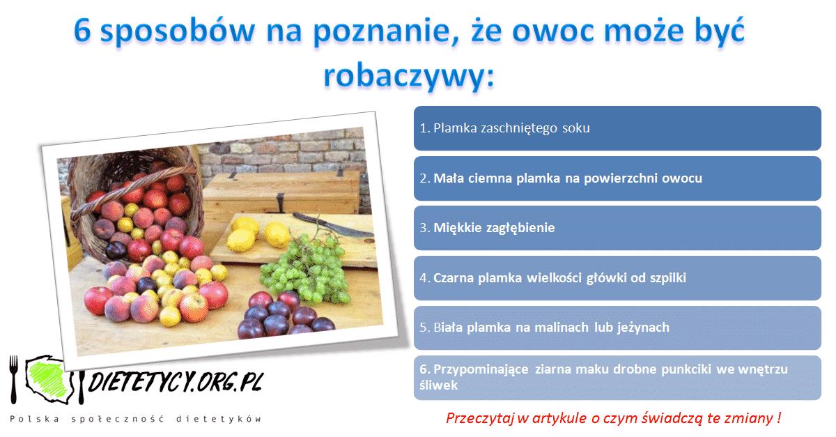 Jak poznać czy owoc jest robaczywy?
