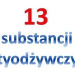 13 substancji antyodżywczych