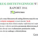 RAPORT: Ceny usług dietetycznych w Polsce 2016