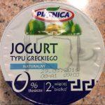 Piątnica Jogurt typu greckiego naturalny 0% tłuszczu
