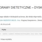 Programy dietetyczne – DYSKUSJA
