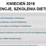 Konferencje i szkolenia w kwietniu 2016