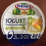 Jogurt typu greckiego z gruszką i jabłkiem Piątnica