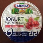 Jogurt typu greckiego z malinami Piątnica