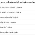Dietetyku, jakie masz wykształcenie? (ankieta anonimowa)