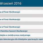 Konferencje i szkolenia we wrześniu 2016