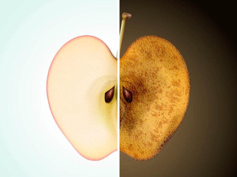 przejrzałe jabłko