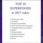 TOP 10 superfoods 2017 według 1700 dietetyków