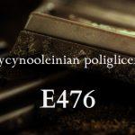 E476 – polirycynooleinian poliglicerolu