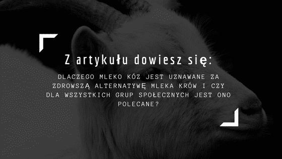 mleko kozie artykuł