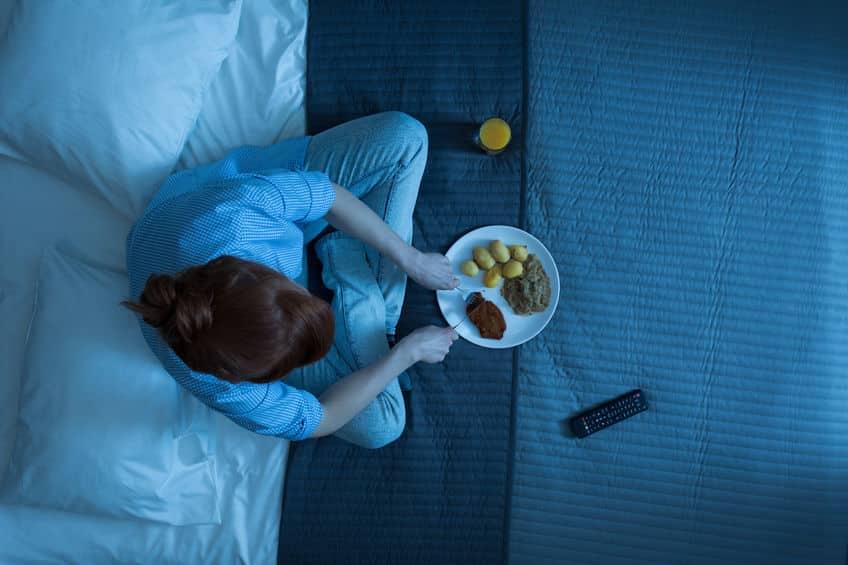 jedzenie przed snem