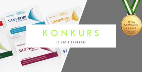 KONKURS: Wygraj zestaw probiotyków Sanprobi i 2 dietetyczne książki!