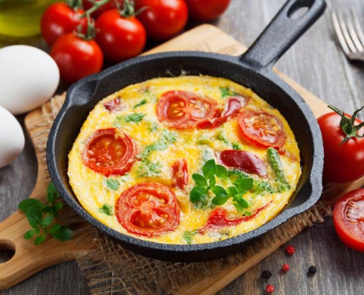 omlet wysokotłuszczowe śniadanie cukrzyca
