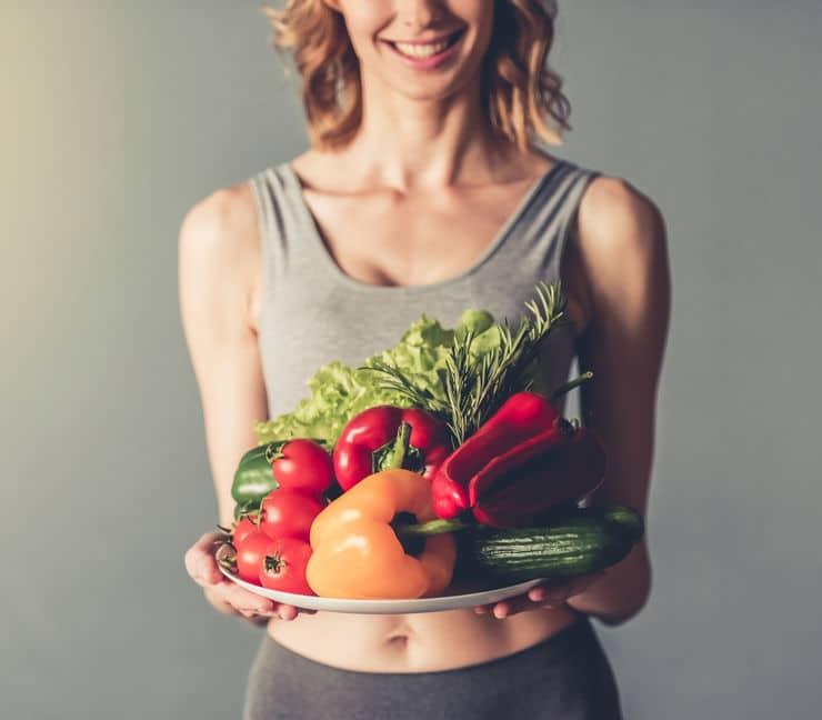 warzywa owoce kobieta sport