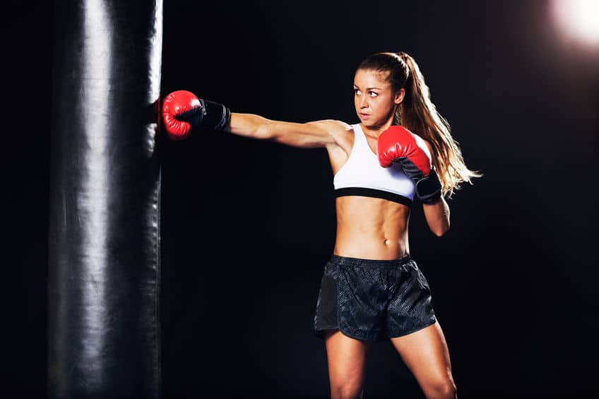 kobieta boks