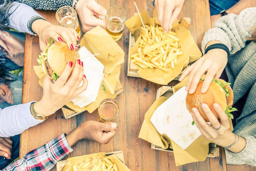 dzieci fast food