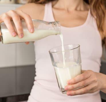 mleko trądzik