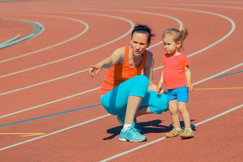 mama i dziecko sport