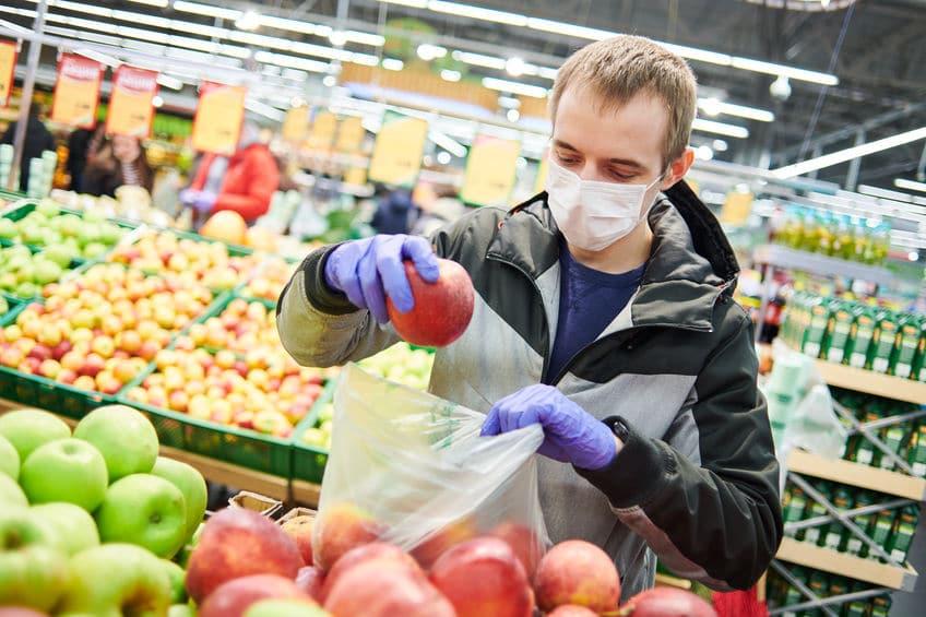koronawirus supermarket