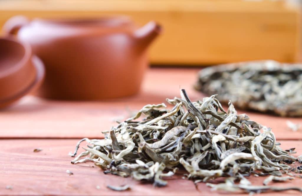 biała herbata liście