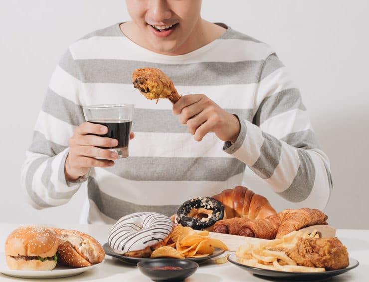 dieta stres fast-food