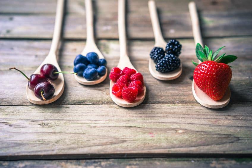 owoce łyżki