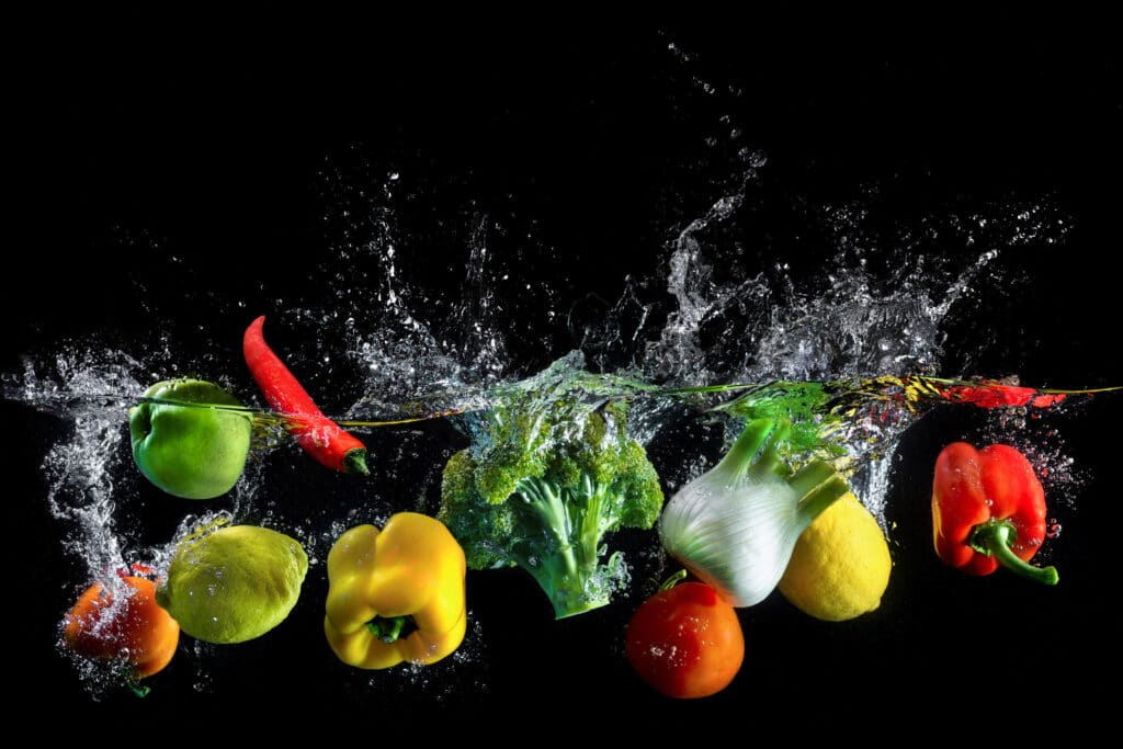 warzywa owoce woda