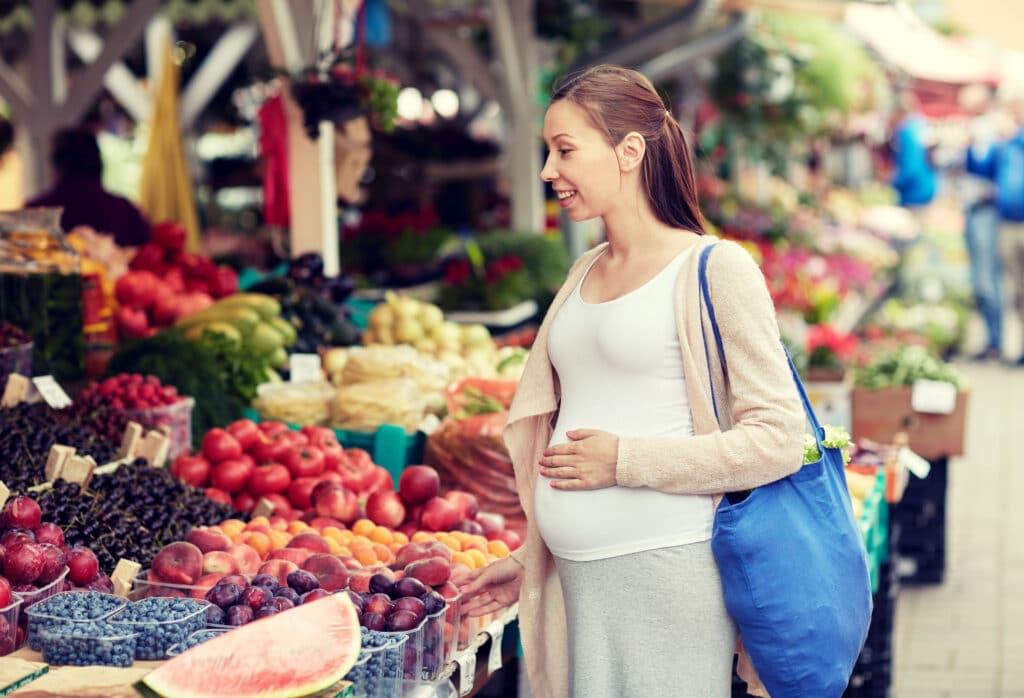 ciążą zakupy zdrowego jedzenia