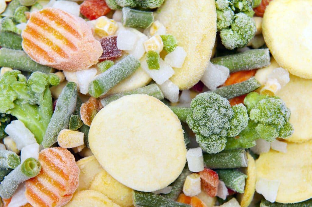 owoce i warzywa mrożone