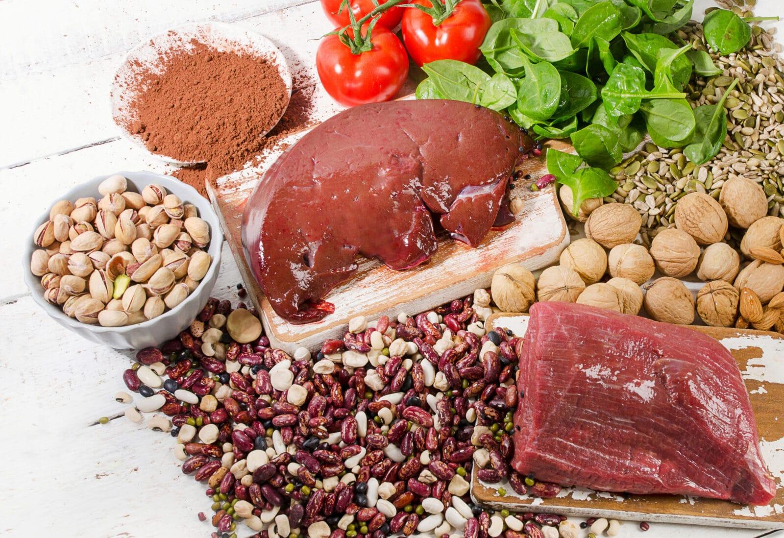 zdrowa dieta bogata w żelazo