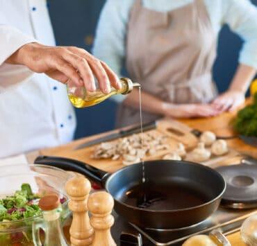 smażenie na oliwie z oliwek