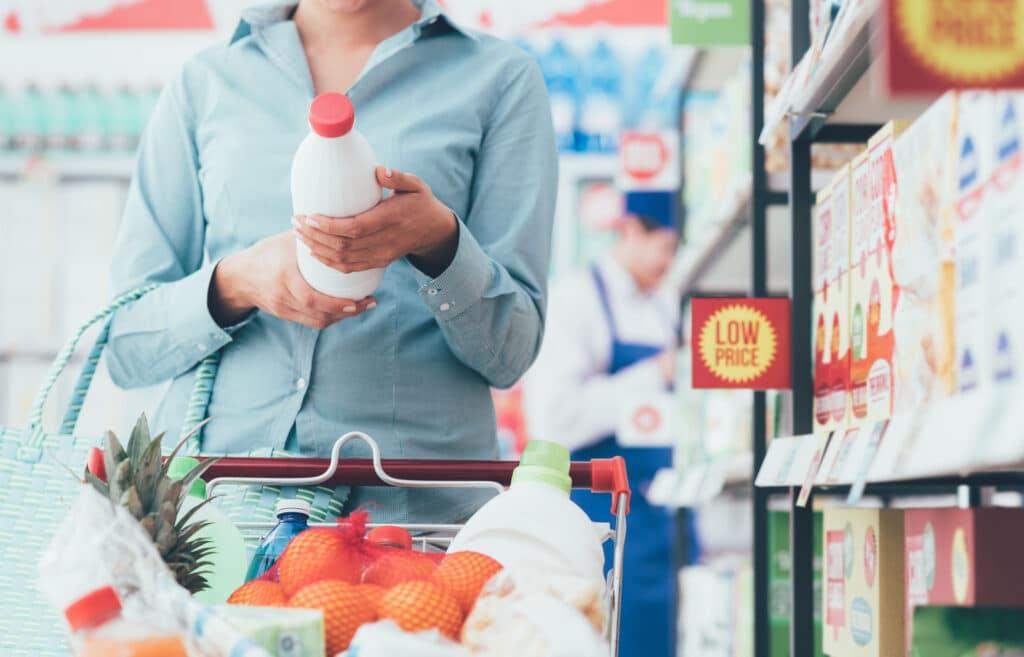 etykieta żywności supermarket
