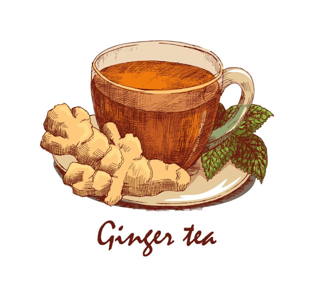 obrazek herbata z imbirem